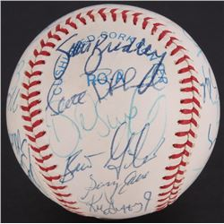 1990 Mariners OAL Baseball Team-Signed by (24) with Ken Griffey Jr., Scott Bradley, Brian Giles, Mat