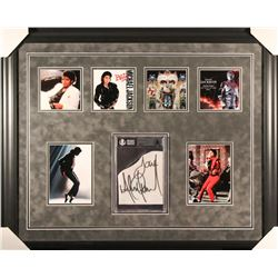 "Michael Jackson Signed 27x33 Custom Framed Cut Display Inscribed ""Love"" (Beckett Encapsulated)"