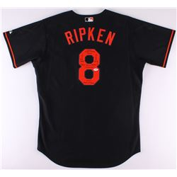 "Cal Ripken Jr. Signed Orioles Majestic Authentic Jersey Inscribed ""Ironman"", ""2632 Consecutive Games"