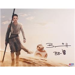 """Brian Herring Signed Star Wars """"BB-8"""" 11x14 Photo Inscribed """"BB-8"""" with Original BB-8 Sketch (PA COA"""