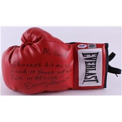 Earnie Shavers Signed Everlast Boxing Glove with Extensive Inscription Referencing Muhammad Ali (PSA