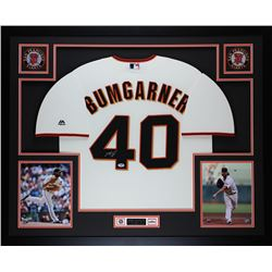 "Madison Bumgarner Signed Giants 35"" x 43"" Custom Framed Jersey (PSA COA)"