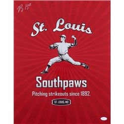 Ray King Signed St.Louis Southpaws 16x20 Photo (JSA COA)