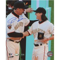 Bruce Bochy Signed Giants 8x10 Photo with Tim Lincecum (FSC COA  Bochy Hologram)