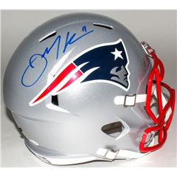 Julian Edelman Signed Patriots Full-Size Speed Helmet (JSA COA)
