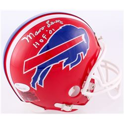 "Marv Levy Signed Bills Mini Helmet Inscribed ""HOF '01"" (JSA COA)"