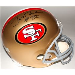 Jerry Rice Signed 49ers Throwback Full-Size Helmet (Rice Hologram)