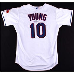 Eric Young Signed Authentic On-Field Rangers Jersey (MLB Hologram)