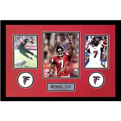 Michael Vick Signed Falcons 16x26 Custom Framed Photo Display (Radtke COA)