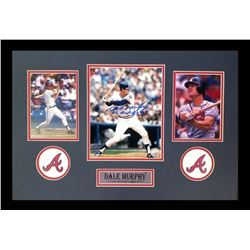 "Dale Murphy Signed Braves 16x26 Custom Framed Photo Display Inscribed ""NL MVP 82, 83"" (Radtke COA)"