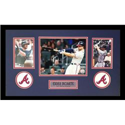 Ender Inciarte Signed Braves 16x26 Custom Framed Photo Display (Radtke COA)