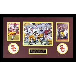Reggie Bush Signed USC Trojans 16x26 Custom Framed Photo Display (Radtke COA)