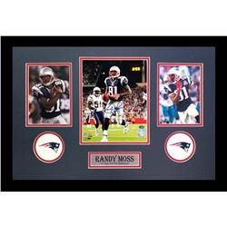 Randy Moss Signed Patriots 16x26 Custom Framed Photo Display (Radtke COA)