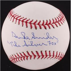 "Duke Snider Signed OML Baseball Inscribed ""The Silver Fox"" (Autograph Reference COA  JSA COA)"