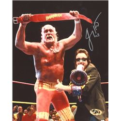 Jimmy Hart Signed Hulkamania 8x10 Photo (MAB Hologram)