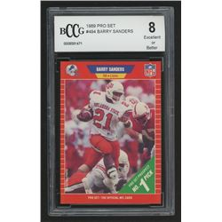 1989 Pro Set #494 Barry Sanders RC (BCCG 8)