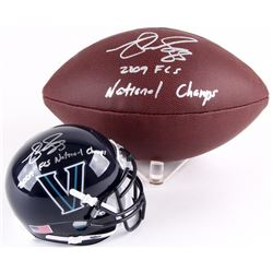 Lot of (2) Matt Szczur Signed Items with (1) Football  (1) Villanova Wildcats Mini-Helmet Inscribed