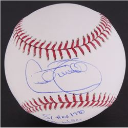 "Cecil Fielder Signed OML Baseball Inscribed ""51 HRS 1990""  ""96 WSC"" (JSA COA)"