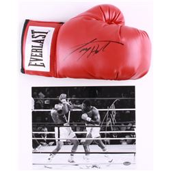 Lot of (2) Larry Holmes Signed Boxing Items with (1) 8x10 Photo  (1) Everlast Boxing Glove (Schwartz