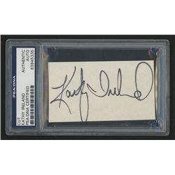 Kathy Ireland Signed 3x5 Cut (PSA Encpsulated)