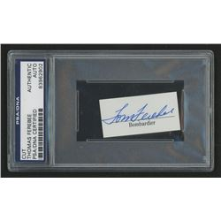 Thomas Ferebee Signed 1x2 Cut (PSA Encpsulated)