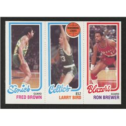 1980-81 Topps #165 228 Fred Brown/31 Larry Bird TL/198 Ron Brewer