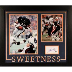 Walter Payton Signed Bears 23x27 Custom Framed Index Card Display (Payton COA)