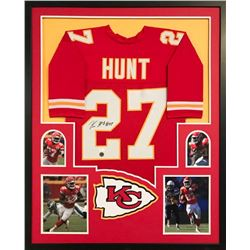 Kareem Hunt Signed Chiefs 34x42 Custom Framed Jersey (JSA COA  Hunt Hologram)