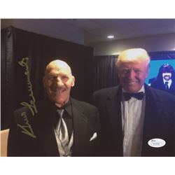 Bruno Sammartino Signed 8x10 Photo with Donald Trump (JSA COA)