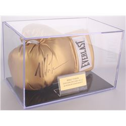 Mike Tyson Signed Everlast Boxing Glove with Display Case (JSA COA)