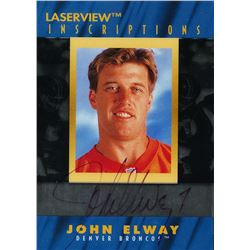 1996 Laser View Inscriptions #6 John Elway #2250/3100