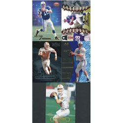 Lot of (5) Peyton Manning Rookie Cards