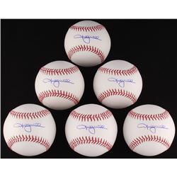 Lot of (6) Shelby Miller Signed OML Baseballs (Schwartz COA)