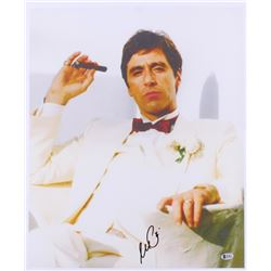 "Al Pacino Signed ""Scarface"" 18x22 Photo on Canvas (Beckett COA)"
