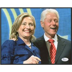 Hillary Clinton Signed 8x10 Photo With Bill Clinton (JSA COA)