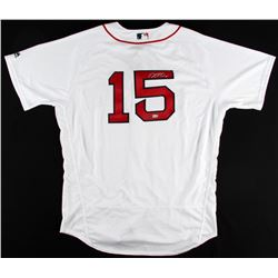 Dustin Pedroia Signed Authentic Red Sox Jersey (Steiner COA  MLB Hologram)