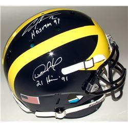 Charles Woodson  Desmond Howard Signed Michigan Wolverines Full-Size Authentic On-Field Helmet Inscr