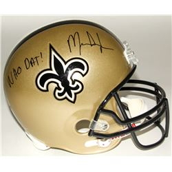 "Mark Ingram Signed Saints Full-Size Helmet Inscribed ""Who Dat!"" (Ingram Hologram)"