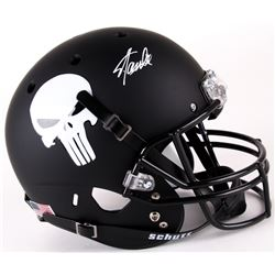 "Stan Lee Signed Custom Matte Black ""Punisher"" Full-Size Helmet (Lee Hologram)"