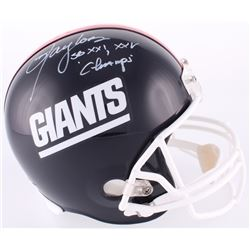 "Lawrence Taylor Signed Giants Full-Size Helmet Inscribed ""SB XXI, XXV Champs"" (Radtke COA)"