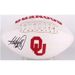 Adrian Peterson Signed Oklahoma Sooners Logo Football (Radtke COA)