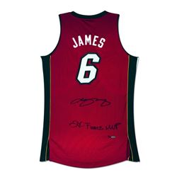 "LeBron James Signed Heat Limited Edition Jersey Inscribed ""2X Finals MVP"" (UDA)"