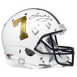 "Leonard Fournette Signed LSU Tigers Limited Edition Full-Size Helmet Inscribed ""40 TD"" (Panini COA)"