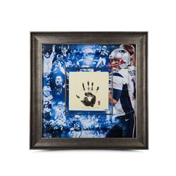 Tom Brady Signed Patriots 36x36 Custom Framed Tegata (UDA)