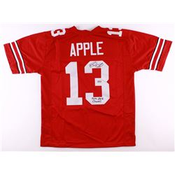 "Eli Apple Signed Ohio State Buckeyes Jersey Inscribed ""2014 NATL Champs!"" (Radtke COA)"