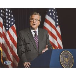 "Jeb Bush Signed 8x10 Photo Inscribed ""Best Wishes"" (Beckett COA)"