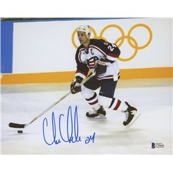Chris Chelios Signed Team USA 8x10 Photo (Beckett COA)