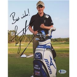 "Luke Donald Signed 8x10 Photo Inscribed ""Best Wishes"" (Beckett COA)"