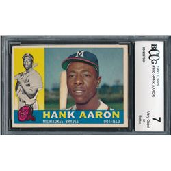 1960 Topps #566 Hank Aaron AS (BCCG 9)