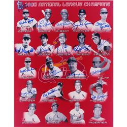 St. Louis Cardinals 1968 National League Champions 16x20 Photo Signed by (18) with Lou Brock, Bob Gi